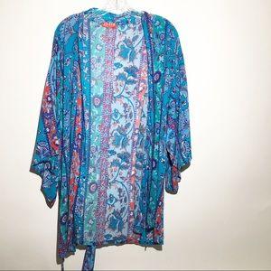 Josie Natori 'Patch Me Up' Festival Kimono Robe